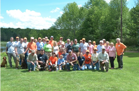 Group shot of the chapter at the family picnic